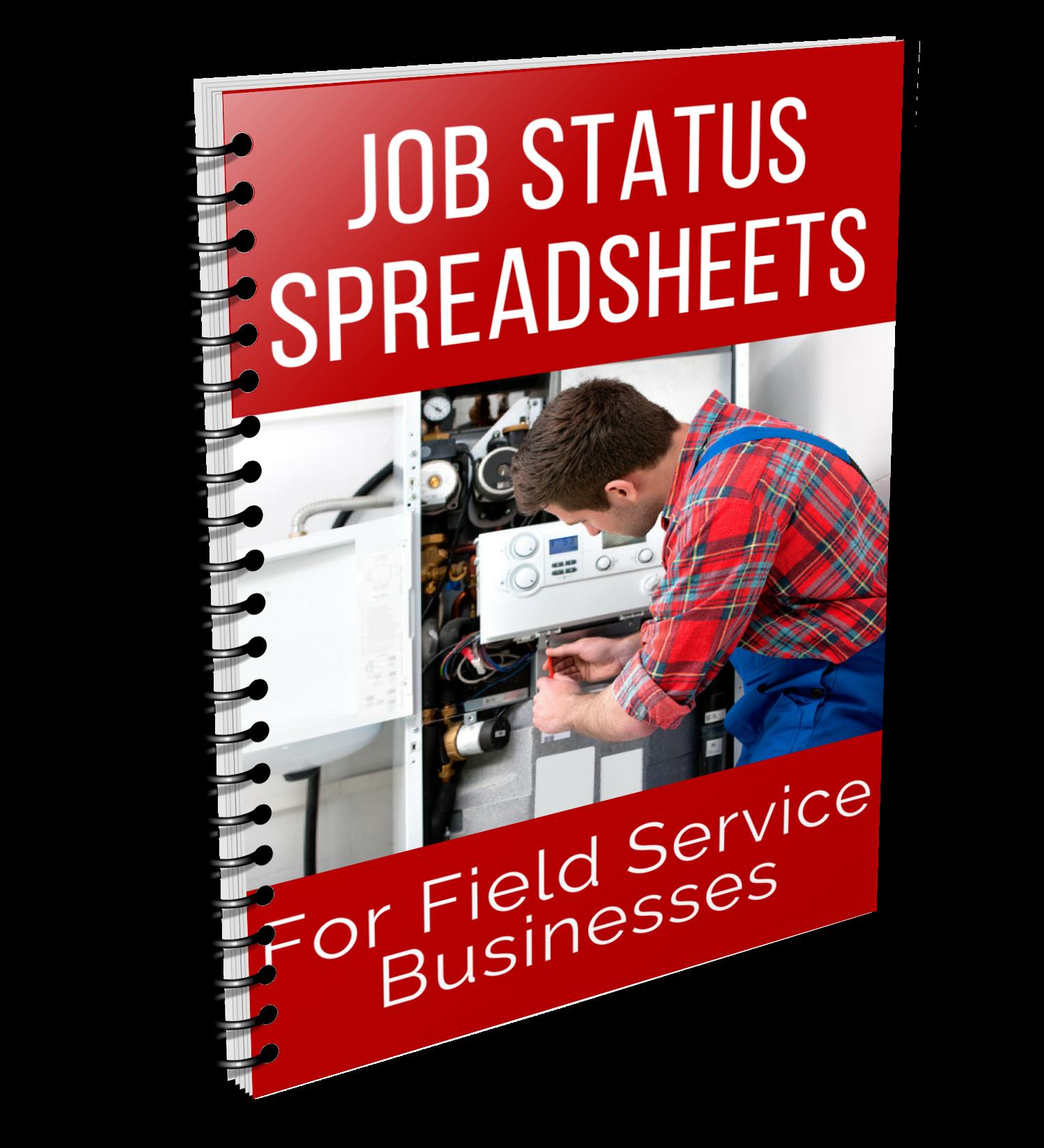 job status sheet cover spiral
